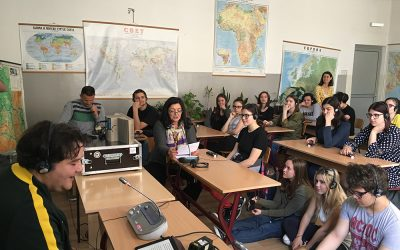 Демонстрација симултаног превођења у Филолошкој гимназији