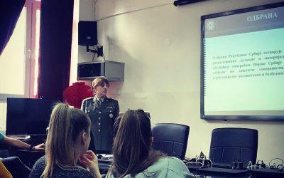 У Филолошкој гимназији одржана презентација о основама система одбране