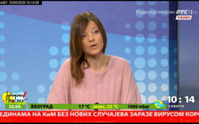 Директорка Филолошке гимназије Драгана Ћећез-Иљукић у Јутарњем програму РТС-а