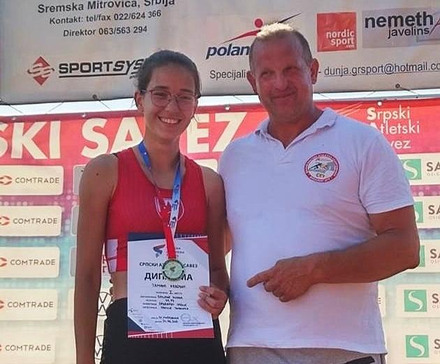 Наша ученица Тамара Ивковић освојила је златну медаљу у дисциплини бацање копља